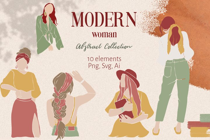 Abstract Women Clipart