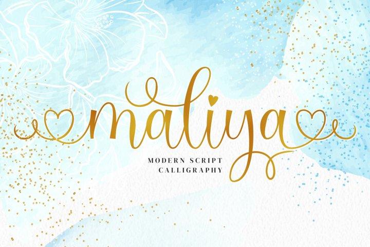 Maliya Font - Modern Calligraphy Font