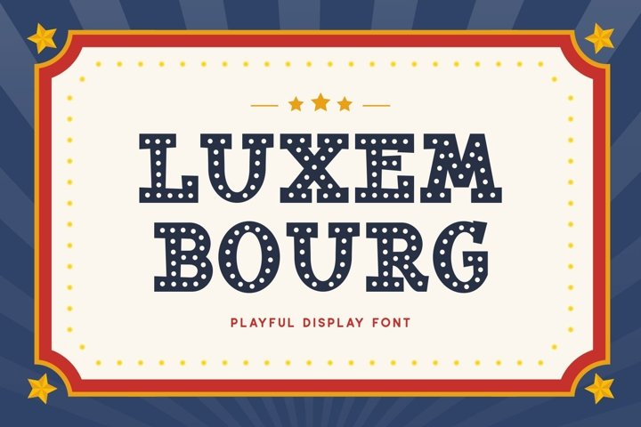 Luxembourg - Playful Display Font