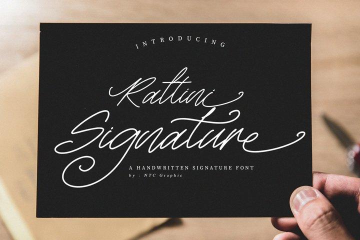 Rattini Signature Handwritten Script Font
