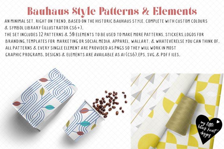 Bauhaus Style Patterns & Elements