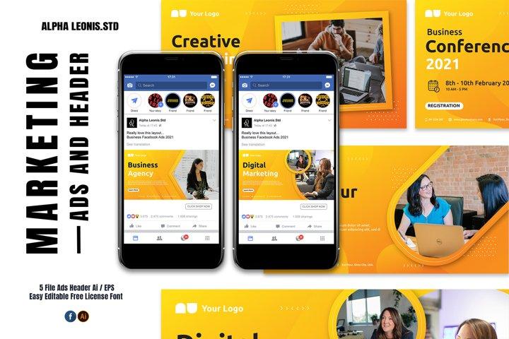 Facebook Business Yellow Ads Header