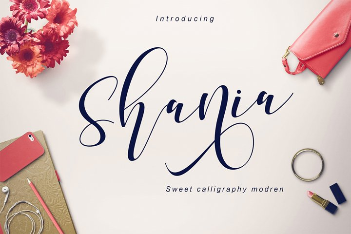 Shania Sweet Calligraphy Modern - Free Font of The Week Font