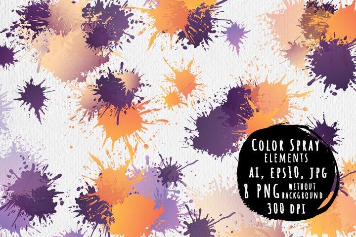 Color spray elements