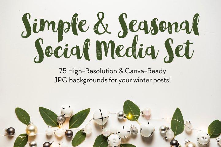 Simple & Seasonal Social Media Set