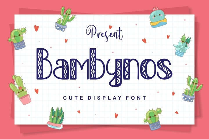 Bambynos - Cute Display Font