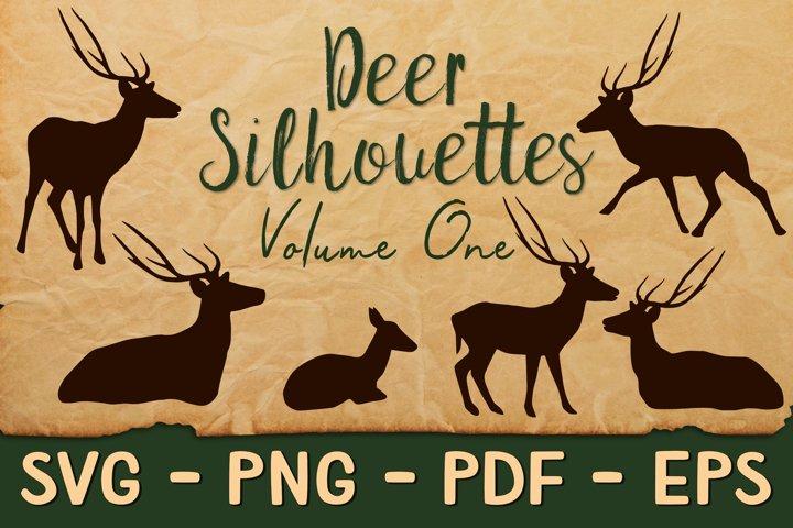 Deer Silhouettes Volume 1