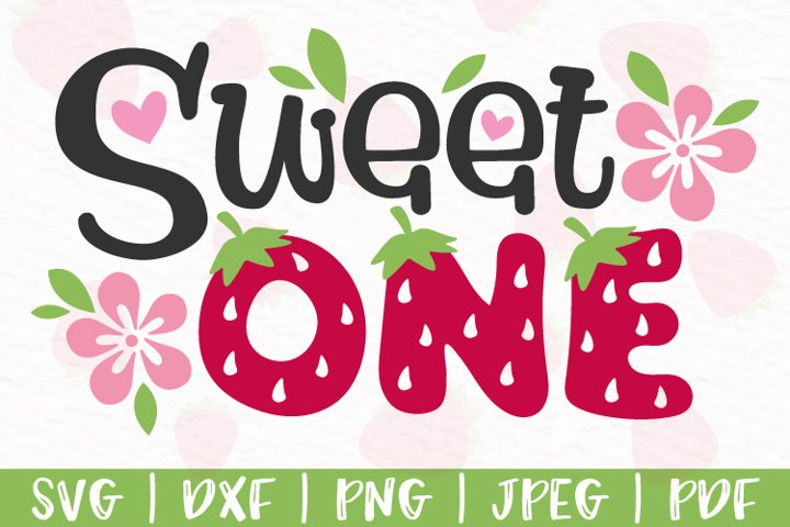 Sweet one svg, Sweet one Strawberry svg, png, dxf, jpeg, pdf