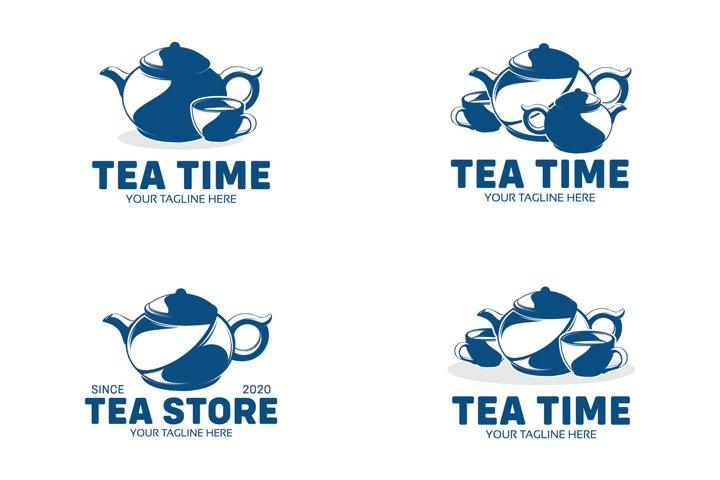 Set of the tea logo