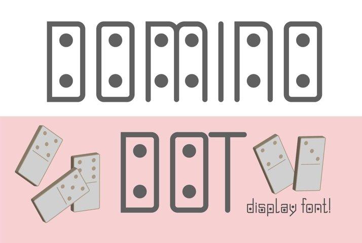 Domino-dot monospace san serif font duo