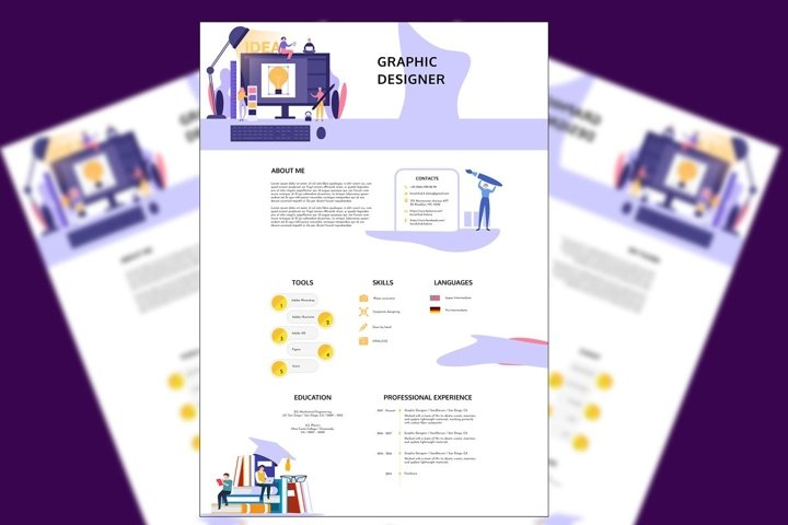 Graphic Designer Resume PSD
