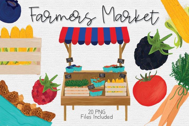 Farmers Market Clipart Set