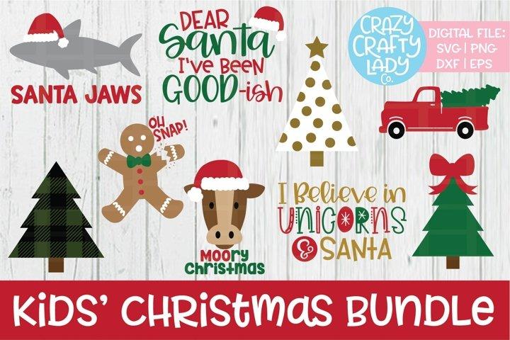Kids Christmas Svg Dxf Eps Png Cut File Bundle 177348 Cut Files Design Bundles