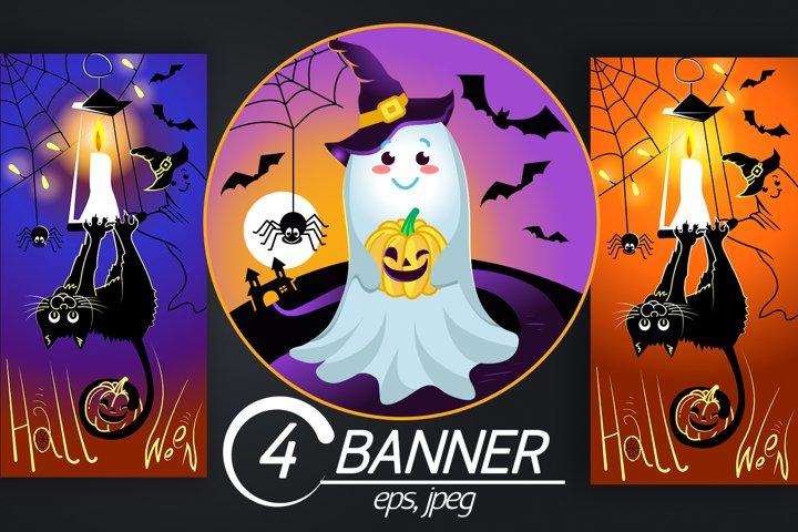 4 Halloween Illustrations
