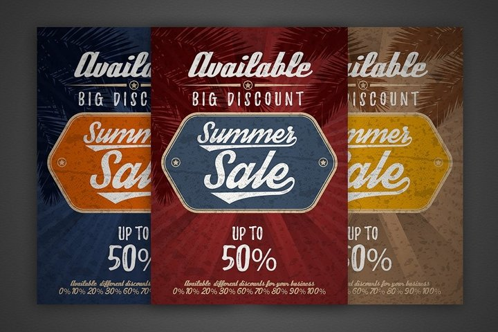 Summer sale vector vintage grunge