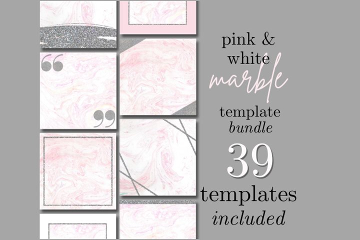 Aesthetic Marble Instagram Story and Post Templates