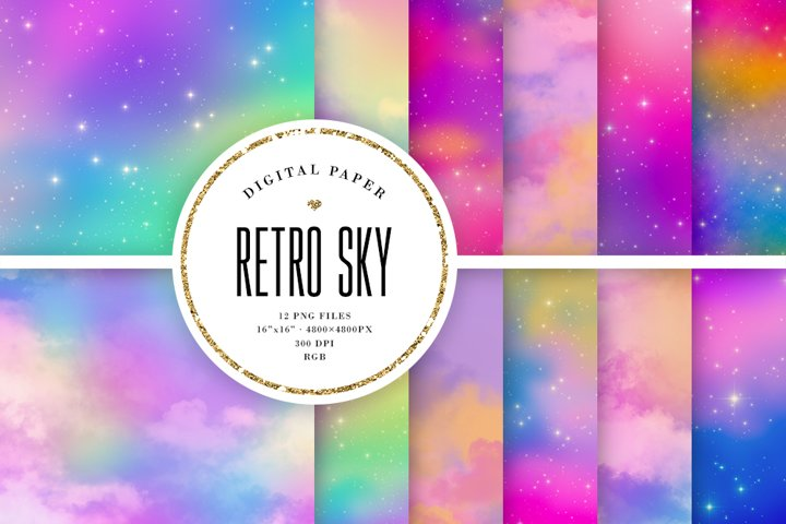 Colorful Retro Sky Backgrounds