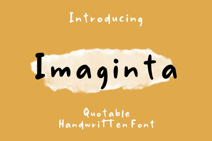 Imaginta - Handwritten Fonts