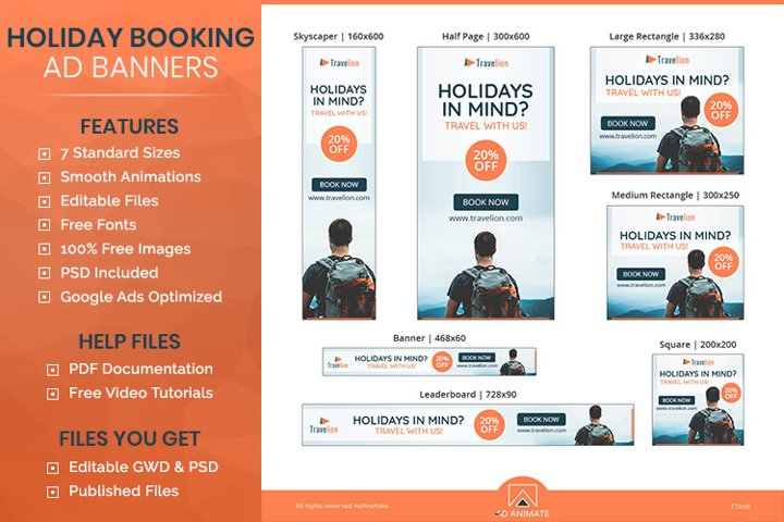 Holiday Travel Banner- Tour & Travel Ad Templates