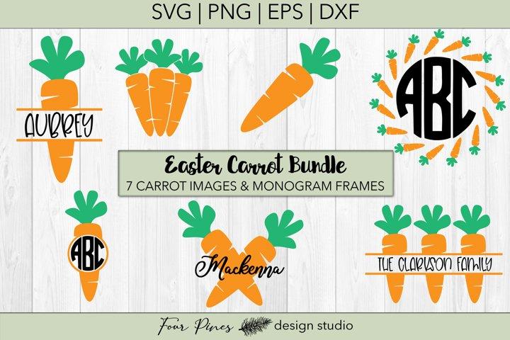 Easter Carrot Monogram Bundle