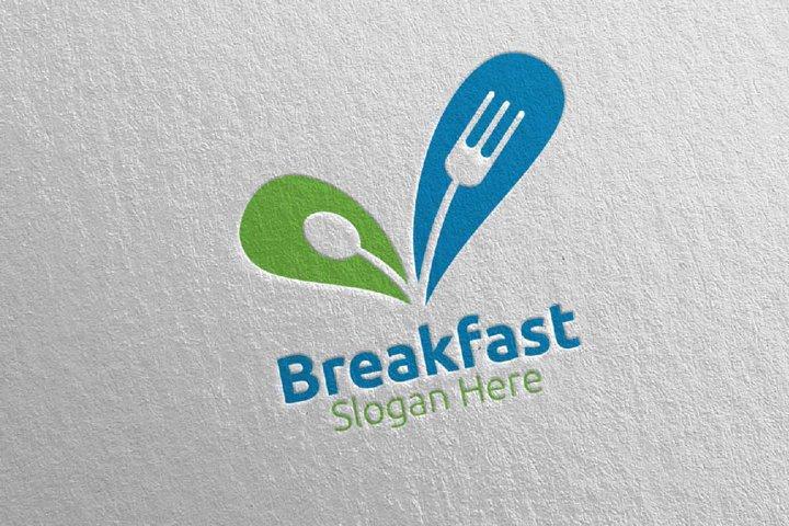 Breakfast Fast Food Delivery Logo 10