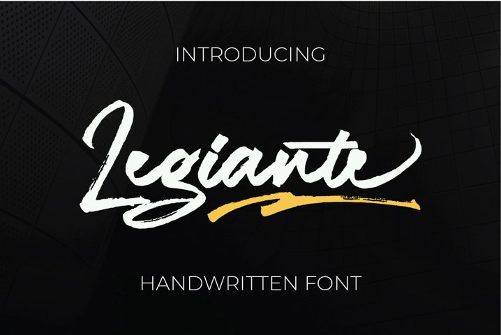 Legiante | Handwritten Fonts