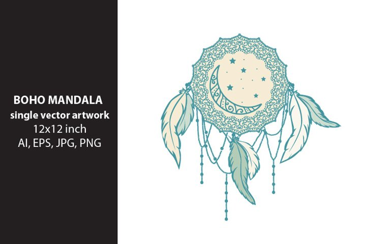 dream mandala- single vector artwork