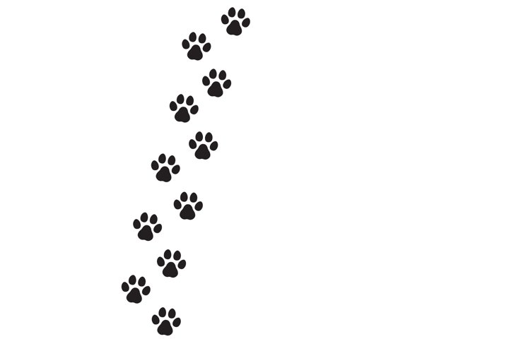 Dog s footprint icon. Paw print. Vector