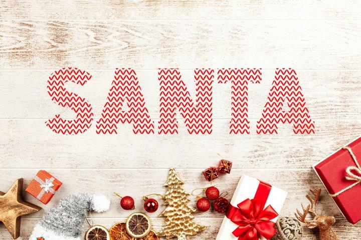 Santa Ugly Sweater - Christmas Font