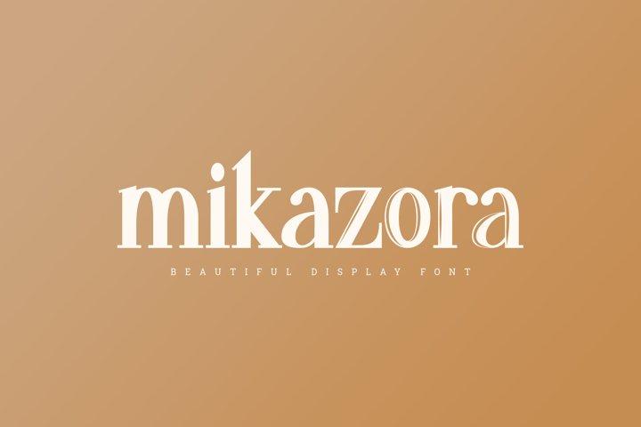 mikazora    Beautiful Display Font