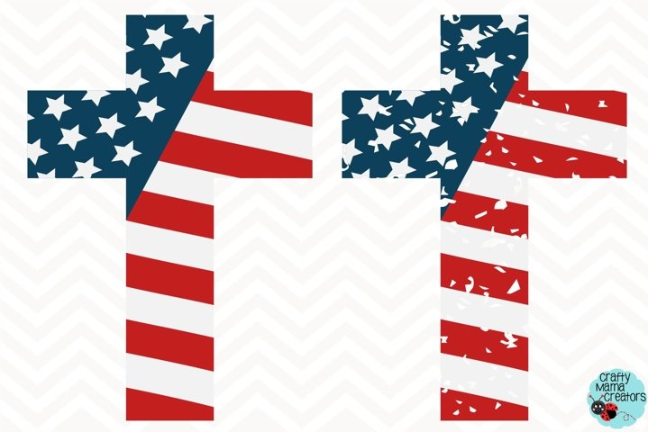 July 4th Cross Svg, Independence Day Clip Art, 4th of July