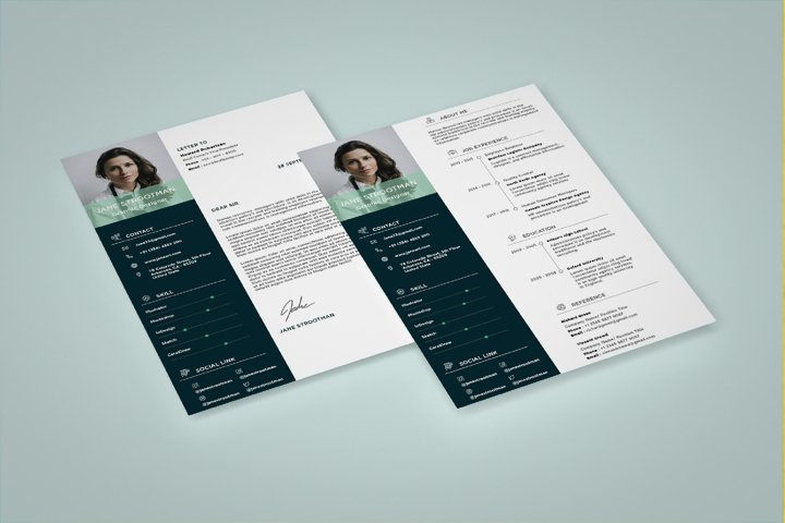 Modern and Minimalist Resume Template CV Vol.3