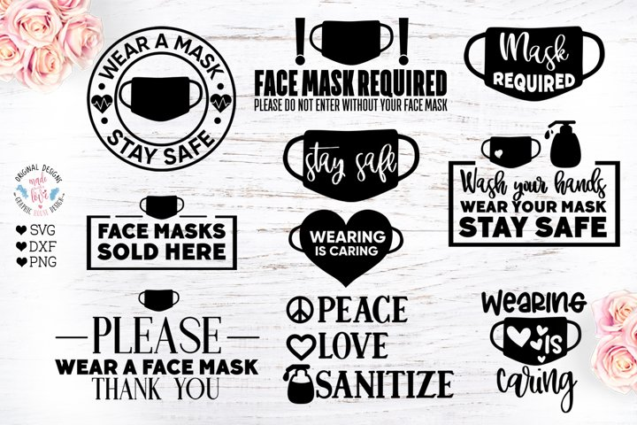 Wear a Face Mask Quotes Bundle