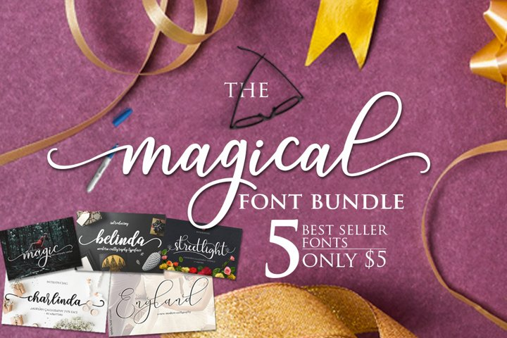 The Magical Mini Bundles $1/Font