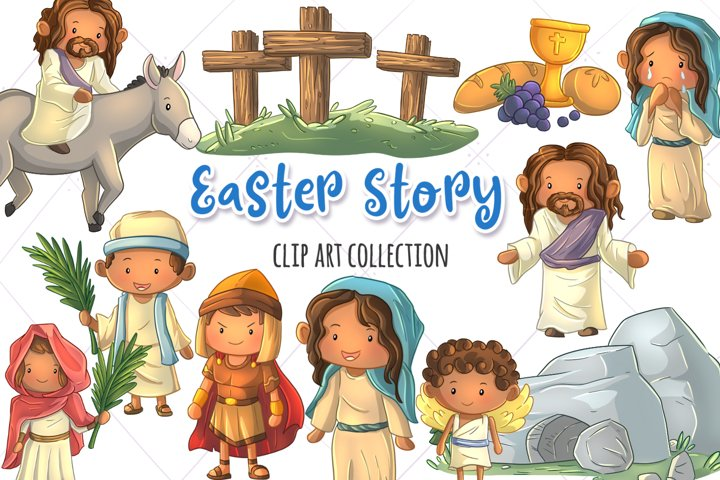 Easter Story Clip Art Collection