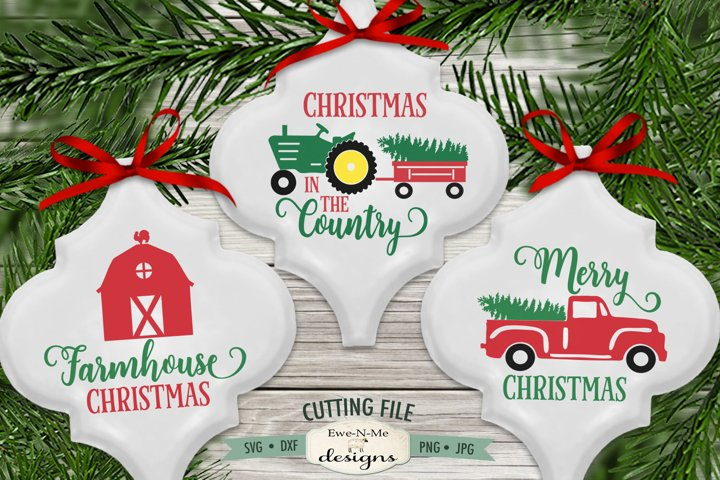 Red Truck | Tractor Christmas Tree | Barn Ornament SVG