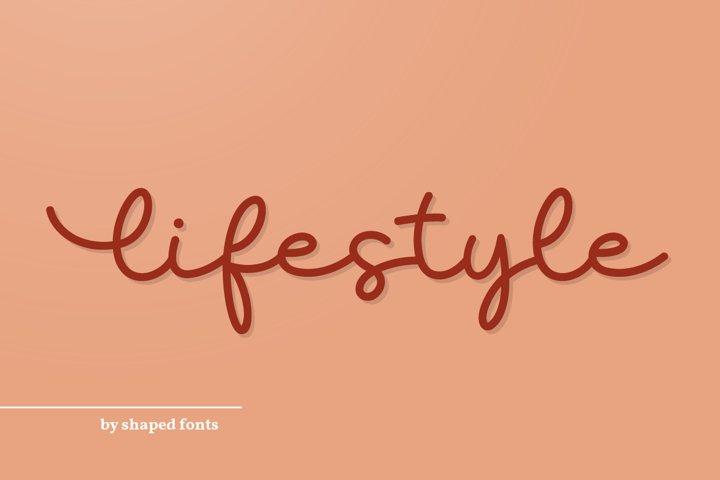 Lifestyle - elegant monoline script