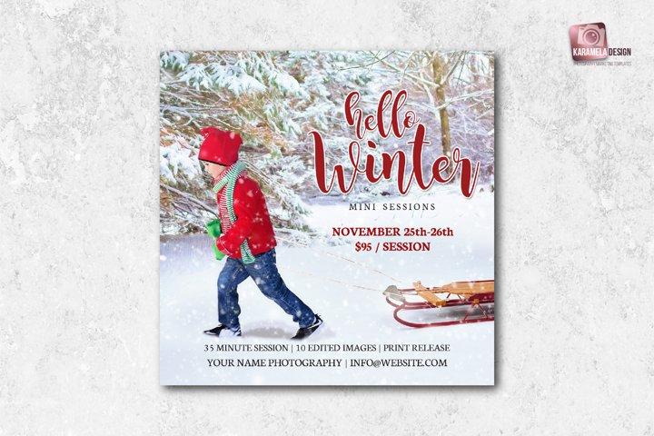 Hello Winter Mini Sessions Template