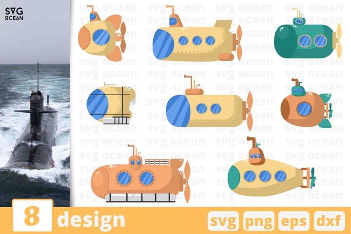 8 SUBMARINE SVG BUNDLE | Submarine svg | Boat svg | Ship svg