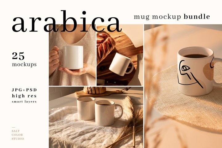Arabica - Mug Mockup Bundle
