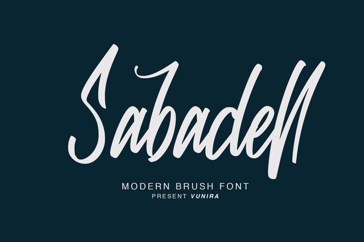 Sabadell   Modern Brush Font