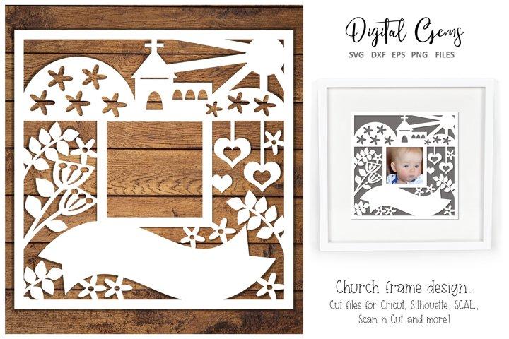Christening / Communion / Wedding, Church frame design