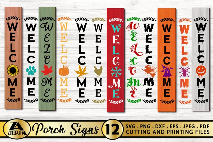 Welcome Porch sign SVG PNG EPS DXF Welcome Sign SVG Bundle