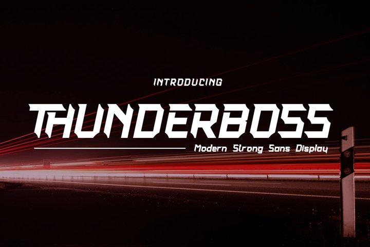 Thunderboss Modern Strong Sans