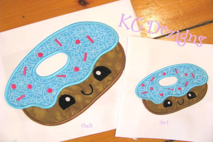 Cheat Day Donut Machine Applique Embroidery Design
