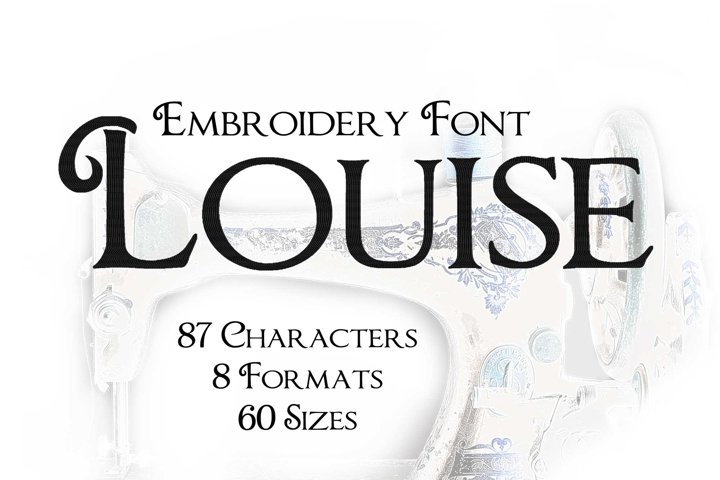 Louise Retro Embroidery Font, Elegant Old Vintage Embroidery