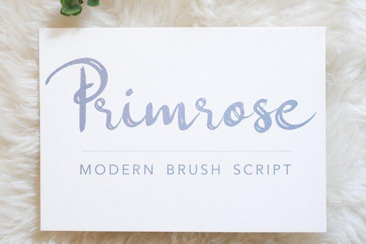 Primrose - A Cheerful Modern Handwritten Brush Script