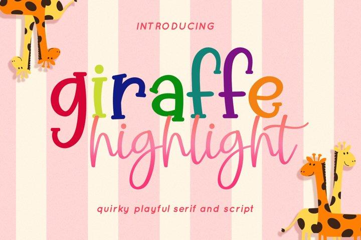 Giraffe Highlight