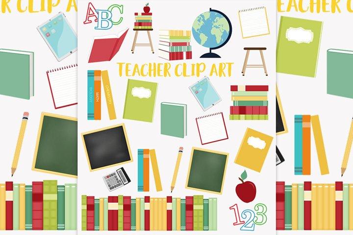 School teacher clipart set
