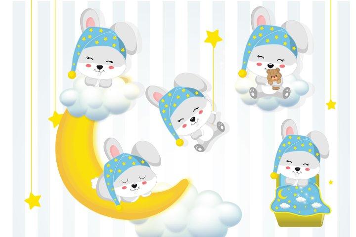 Buuny graphics, Bunny clipart set